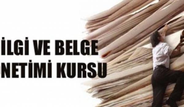 Bilgi ve Belge Yönetimi Kursu